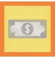 flat shading style icon dollar money vector image vector image