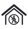 forbidden access icon vector image vector image