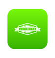 fresh meat product icon green vector image