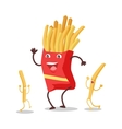 Fries Dancing Isolated on White Funny Food vector image