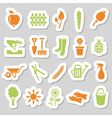 garden stickers vector image