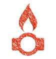gas flame icon grunge watermark vector image vector image