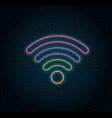 glowing neon wifi icon vector image