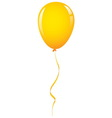 gold balloon ribbon vector image vector image