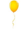 gold balloon ribbon vector image