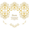 gold ornamental decorative frame vector image