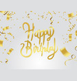 happy birthday celebration party print design vector image vector image