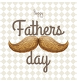 Happy Father s Day card with mustache EPS 10 vector image vector image