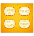 Happy Thanksgiving day sticker vector image vector image