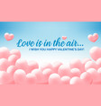 happy valentines day blue congratulation banner vector image vector image