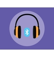 headphone full with bluetooth connection vector image