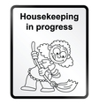 Housekeeping Information Sign vector image vector image