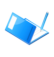 icon file and pen vector image vector image