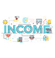 income word lettering vector image vector image