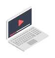 isometric laptop icon flat design vector image vector image