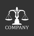 justice with two faces silhouette logo vector image vector image