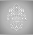 letter x logo - classic luxurious silver vector image vector image