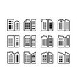 line icons company and buildings set bank and vector image vector image