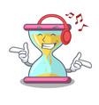 listening music modern hourglass on the table vector image vector image