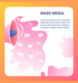 mass media website color flat template vector image vector image