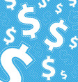 Money icon on blue background vector