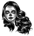 monochromatic black and white skull candy vector image vector image
