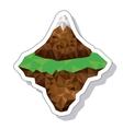 mountain landscape isometric icon vector image