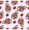 Natural red berries seamless pattern background vector image vector image