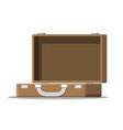 open vintage suitcase for travel vector image vector image