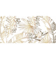 palm leaves and bananas pattern golden tropic