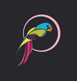 parrot logo design new year 2019 vector image