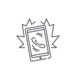 phone call line icon concept phone call vector image vector image