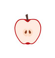 red apple in cut icon flat design vector image vector image