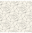 Seamless fish pattern tile background geometric vector image vector image