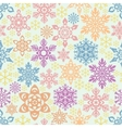 Seamless snowflakes pattern Easy to change colors vector image vector image