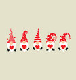 set cartoon gnomes collection cute vector image
