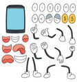 set of smartphone cartoon vector image