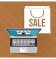 Shopping online ecommerce and media design vector image