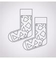 sock icon vector image vector image