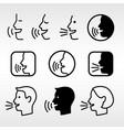 speak head technology signs vector image