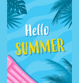 summer card with inflatable mattress vector image