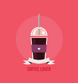 take away coffee cup colorful banner vector image vector image