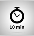 ten minutes timer simple black icon vector image
