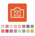 The camera icon Photo and photographer film vector image vector image