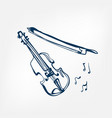violin sketch isolated design vector image vector image