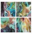 wet liquid paint pours swirl set 2