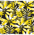 yellow and black geometric summer seamless pattern vector image vector image