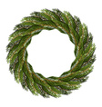 Traditional wreath of spruce branches for vector image