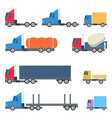 Set of Trucks Flat Design vector image
