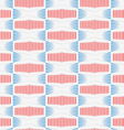 Colored 3D red and blue striped squished hexagons vector image